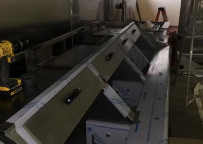 Kitchen Wet Chemical Suppression Install 2